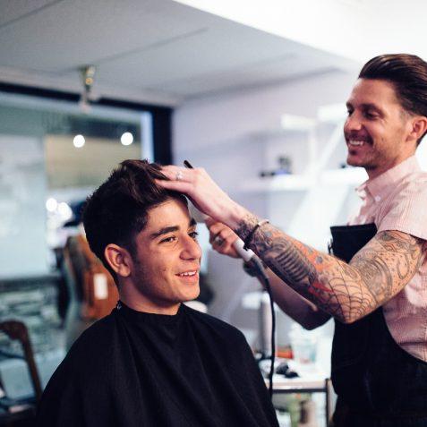 Hair Cut in a a Happy place - Buffalo Company, Temecula